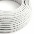 White Glitter covered Round electric cable - RL01