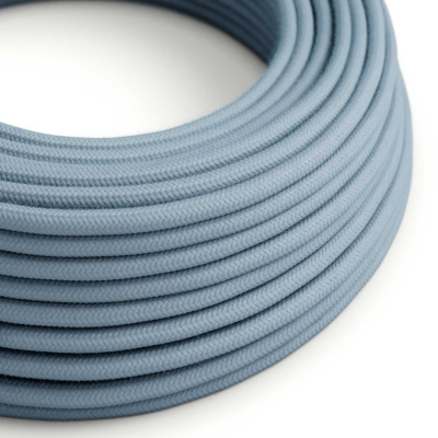 Baby Blue Cotton covered Round electric cable - RC53