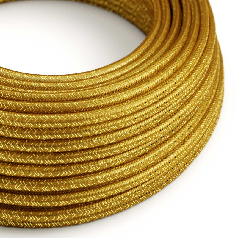 Gold Glitter covered Round electric cable - RL05