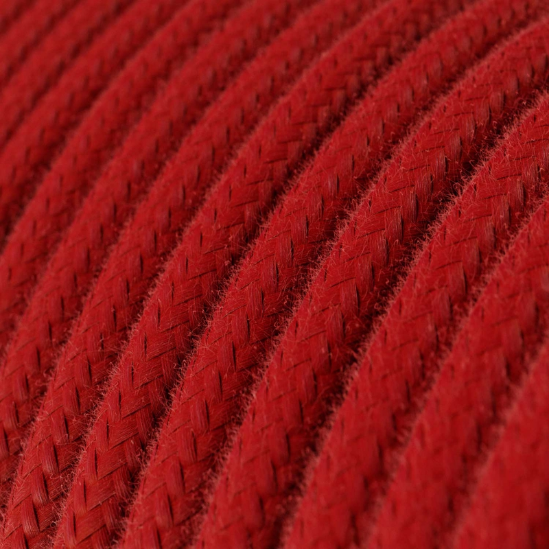 Red Cotton covered Round electric cable - RC35