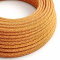 Orange Cotton Tweed covered Round electric cable - RX07