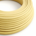 Pale Yellow Cotton covered Round electric cable - RC10