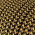 Gold & Black Rayon Chevron covered Round electric cable - RZ24
