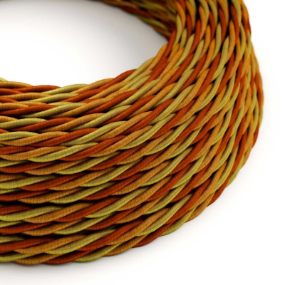Orange covered Twisted electric cable - TG04