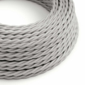 Silver Rayon covered Twisted electric cable 3x18 AWG - TM02