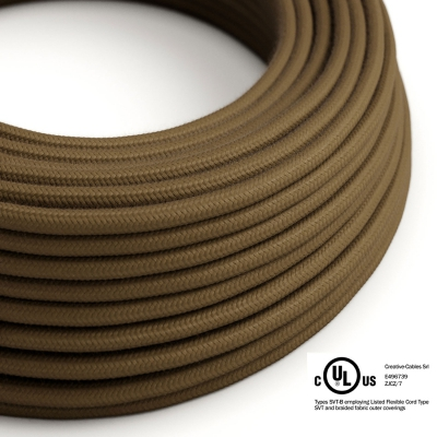 Brown Cotton covered Round electric cable - RC13