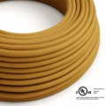 Mustard Cotton covered Round electric cable - RC31