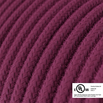 Raspberry Cotton covered Round electric cable - RC32