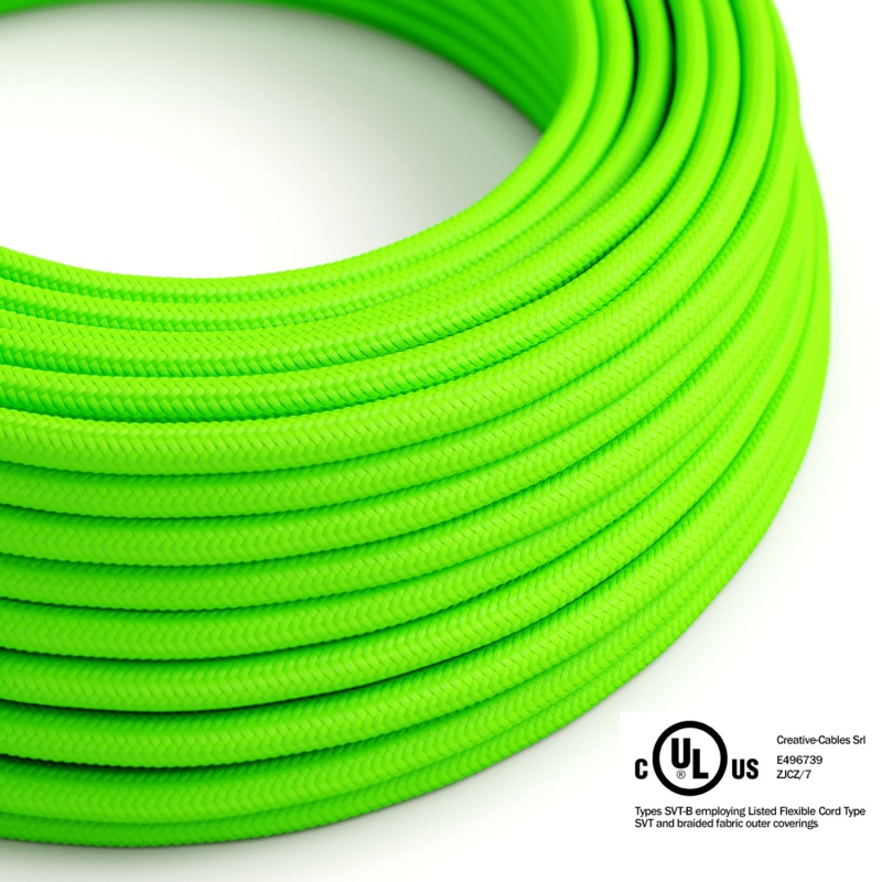 Neon Green covered Round electric cable - RF06