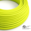 Neon Yellow covered Round electric cable - RF10