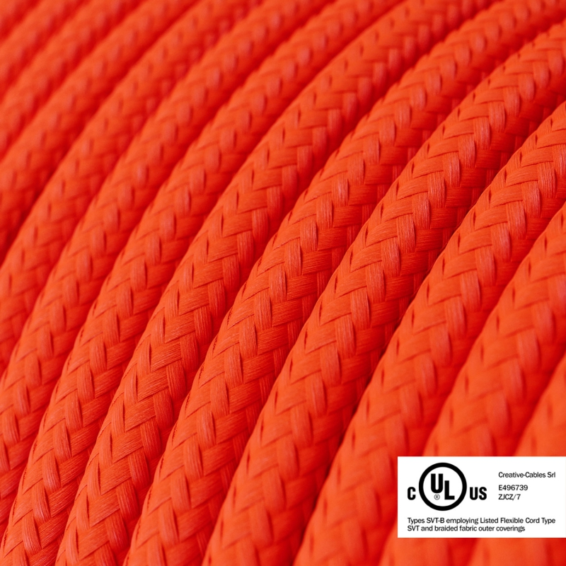 Neon Orange covered Round electric cable - RF15