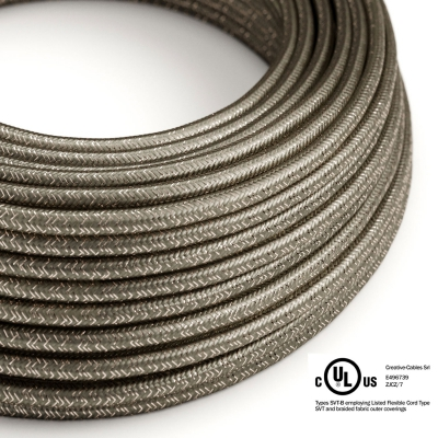 Gray Glitter covered Round electric cable - RL03