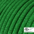 Green Glitter covered Round electric cable - RL06