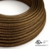 Brown Glitter covered Round electric cable - RL13