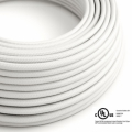 White Rayon covered Round electric cable - RM01