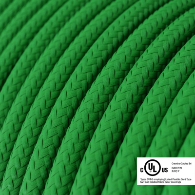 Green Rayon covered Round electric cable - RM06