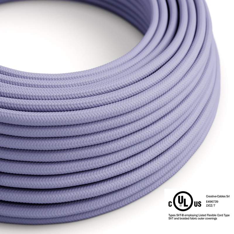 Lilac Rayon covered Round electric cable - RM07