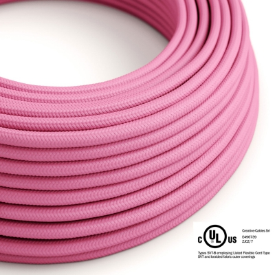 Fuchsia Rayon covered Round electric cable - RM08