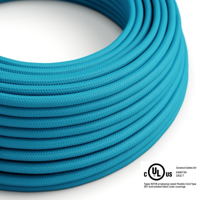 Light Blue Rayon covered Round electric cable - RM11
