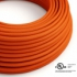 Orange Rayon covered Round electric cable - RM15