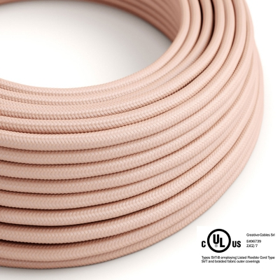 Pink Rayon covered Round electric cable - RM16