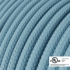 Baby Blue Rayon covered Round electric cable - RM17
