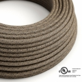 Brown Linen covered Round electric cable - RN04