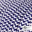 Blue & White Chevron covered Round electric cable - RZ12