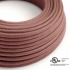 Marsala Cotton covered Round electric cable - RX11