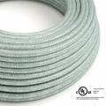 Blue Haze Cotton covered Round electric cable - RX12