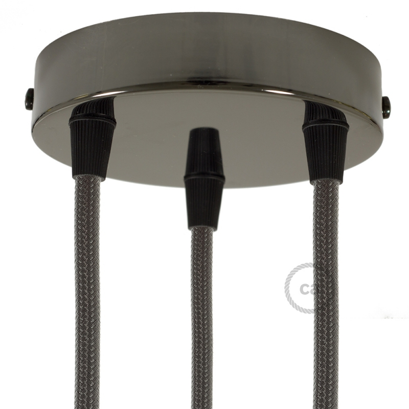 Classic 3-hole Round Metal Ceiling Canopy Kit