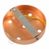 Classic 5-hole Round Metal Ceiling Canopy Kit