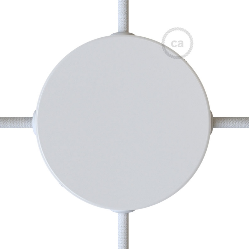 Classic Round Metal Ceiling Canopy Kit - Blank with 4 side holes