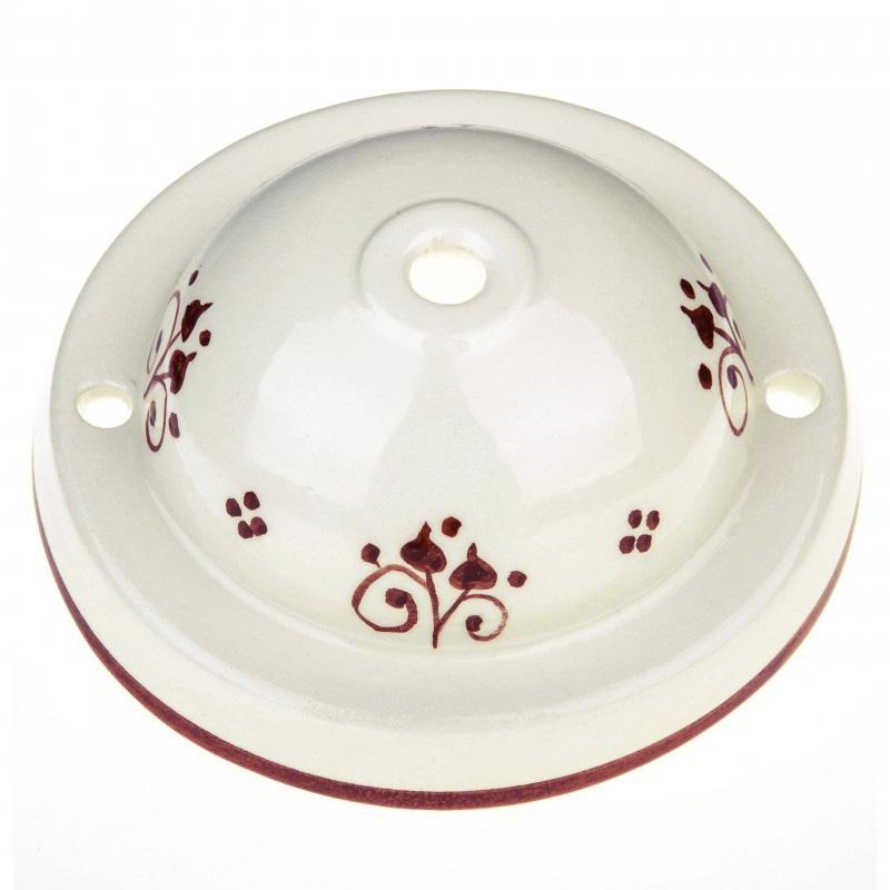 "Ceramic Deco ""Berries 81"" ceiling canopy kit"