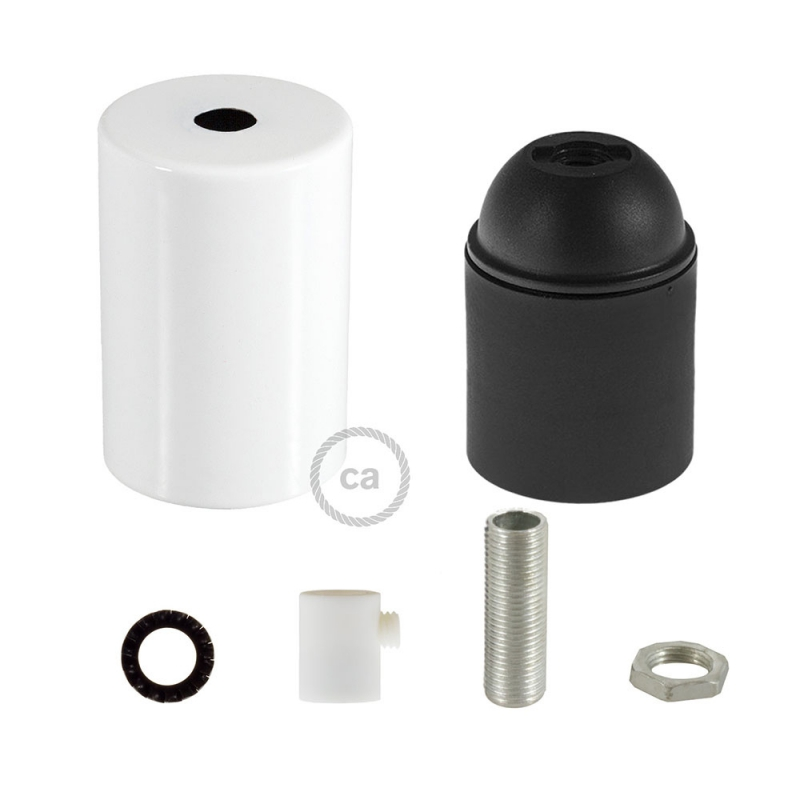 Flat Top Metal light bulb socket kits - E26