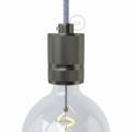 Knurled Aluminium - single ferrule light bulb socket kit - E26