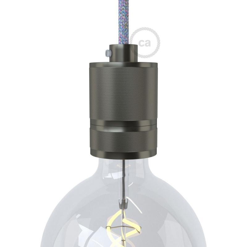 Knurled Aluminium Light Bulb Socket Kit