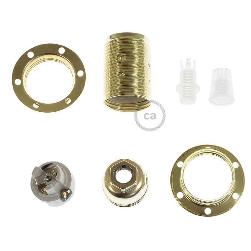 Double ferrule metal E12 socket kit for lampshade