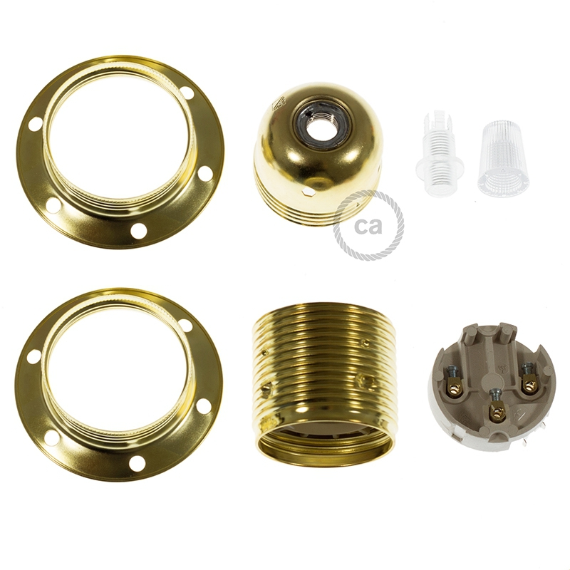 """""""Elemental"""" Metal Double Ferrule E26 sockets - E26"""