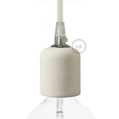 Handmade Ceramic light bulb socket kits - E26