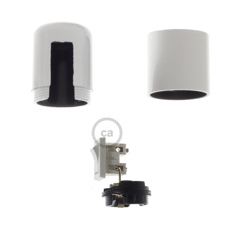 Smooth Sided Bakelite Phenolic socket - ON/OFF SWITCH - E26