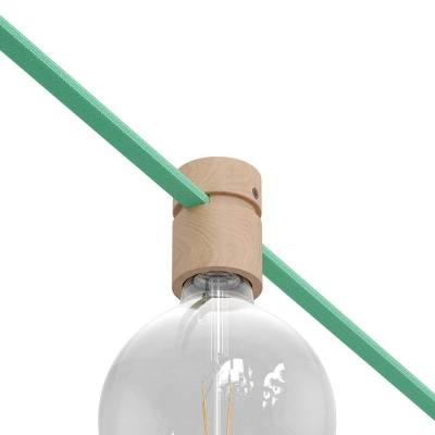 Wood String Light Bulb Socket Cover Kit