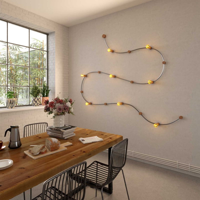 Wood String Light Canopy Cover Kit