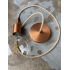 Brushed Copper Pendant Light & Jute Color Cord (RN06)