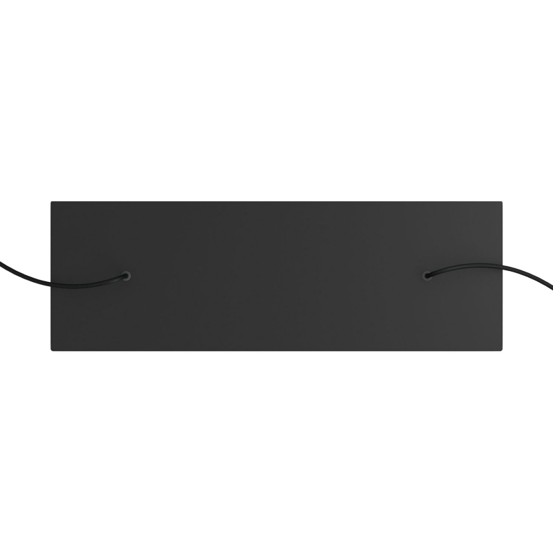 2 hole - EXTRA LARGE Rectangular Ceiling Canopy Kit - Rose One System, 675 x 225 mm Cover
