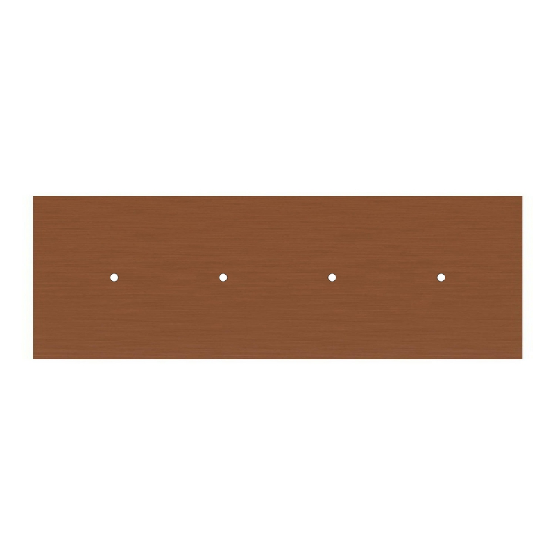 4 hole in line - EXTRA LARGE Rectangular Ceiling Canopy Kit - Rose One System, 675 x 225 mm Cover
