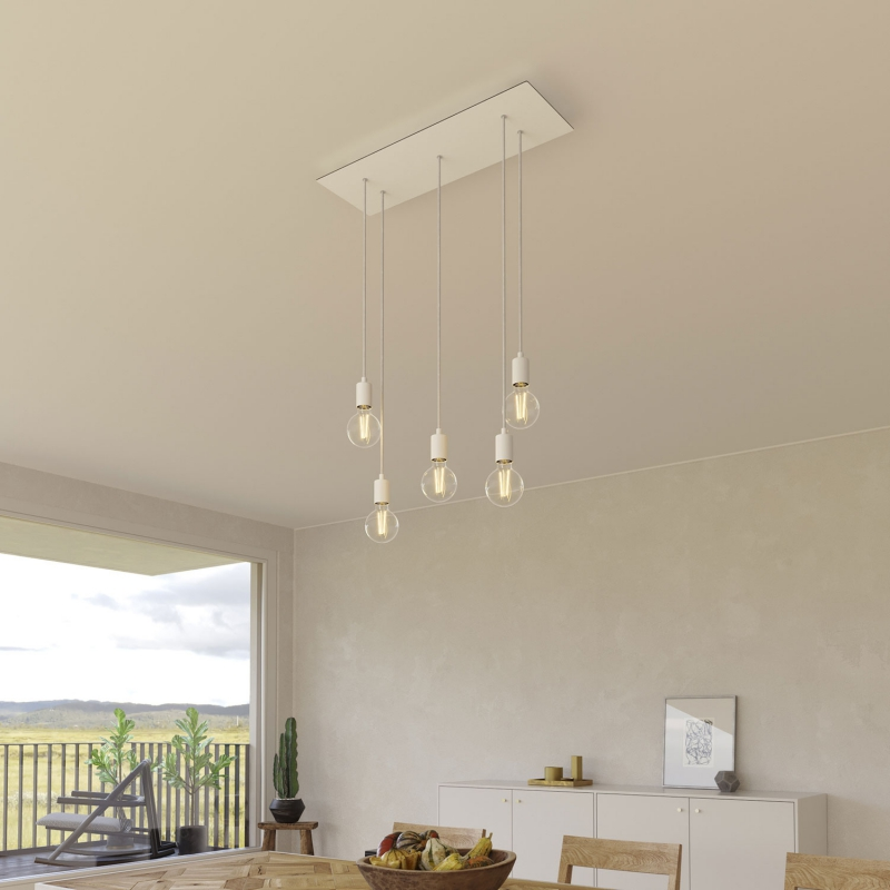 5 hole - EXTRA LARGE Rectangular Ceiling Canopy Kit - Rose One System, 675 x 225 mm Cover