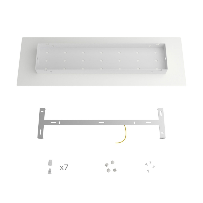 7 hole - EXTRA LARGE Rectangular Ceiling Canopy Kit - Rose One System, 675 x 225 mm Cover