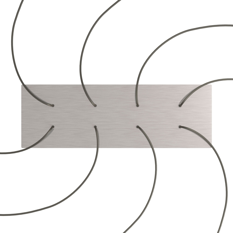 8 hole - EXTRA LARGE Rectangular Ceiling Canopy Kit - Rose One System, 675 x 225 mm Cover