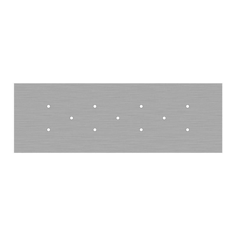 11 hole - EXTRA LARGE Rectangular Ceiling Canopy Kit - Rose One System, 675 x 225 mm Cover